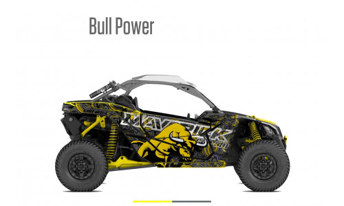 Наклейки (графика) BULL POWER для Can am Maverick X3