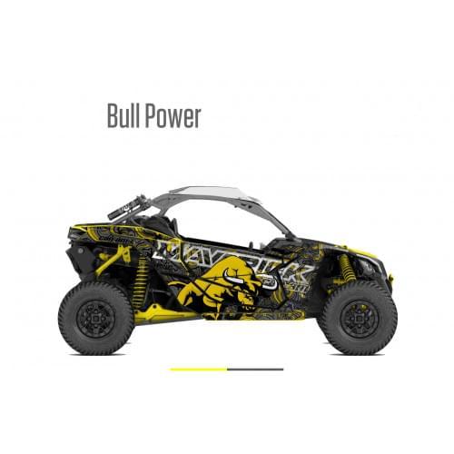 Наклейки (графика) BULL POWER для Can am Maverick X3