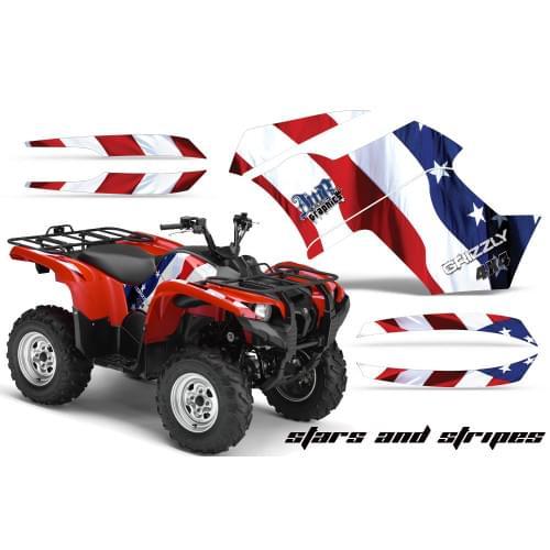 Графика для Yamaha Grizzly 550/700 (Stars and Stripes)