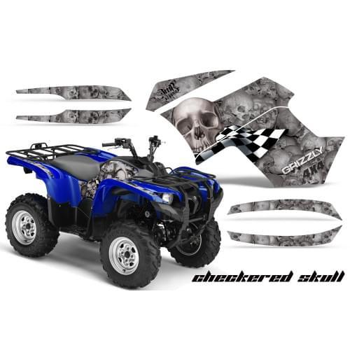 Графика для Yamaha Grizzly 550/700 (Checkered Skull)