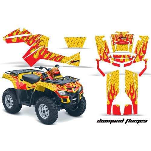 Комплект графики AMR Racing Diamond Flames (BRP ОU...