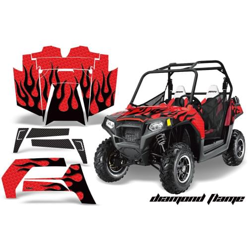 Комплект графики AMR Racing Diamond Flame (RZR800/...