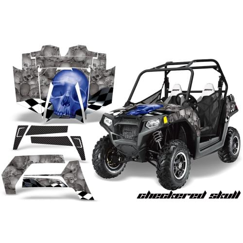 Комплект графики AMR Racing Checkered Skull (RZR80...