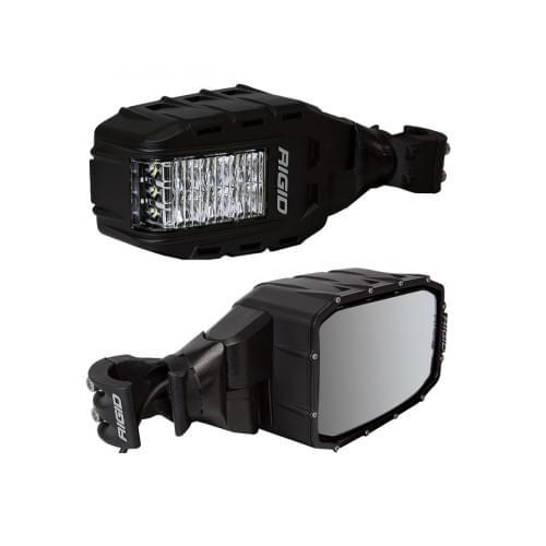 Зеркала заднего вида RIGID Reflect со встроенными LED фарами и указателями поворотов