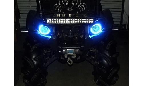 """Комплект светодиодов """"ангельские глазки"""" для Yamaha Grizzly и Viking"""