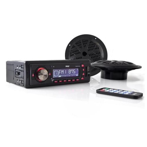 Магнитола с пультом и двумя динамиками (5.25') MP3...