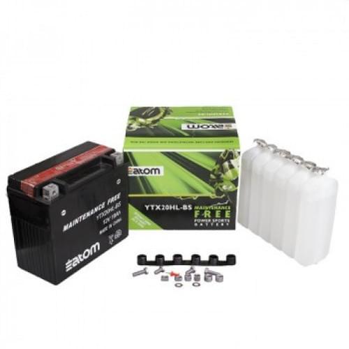 Аккумулятор ATOM YTX20HL-BS /MF 410301203 / 4011496 / YTX-20LBS-00-00