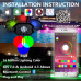 Светодиодная подсветка для Багги/SSV RGB LED Rock Light UTV
