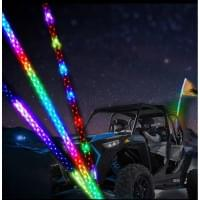 Спиральный светодиодный флагшток 121см  для багги/...