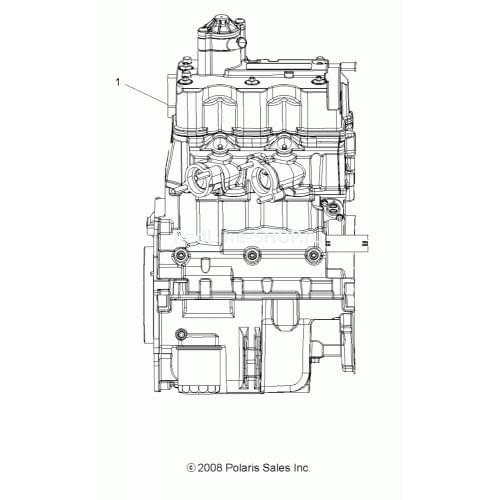 Двигатель оригинальный для Polaris Sportsman 850 X...