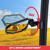 """Зеркала боковые Kemimoto Premium 1.75-2"""" с возможностью крепления на профильную трубу B0106-04901BK"""