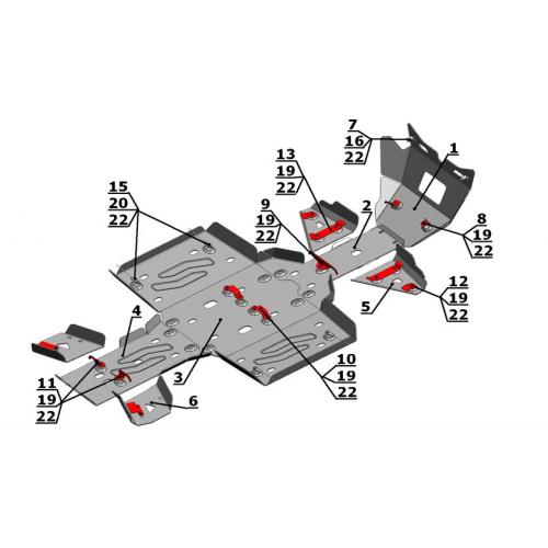 Комплект защиты для Arctic CAT 1000/700/550/500 i/...