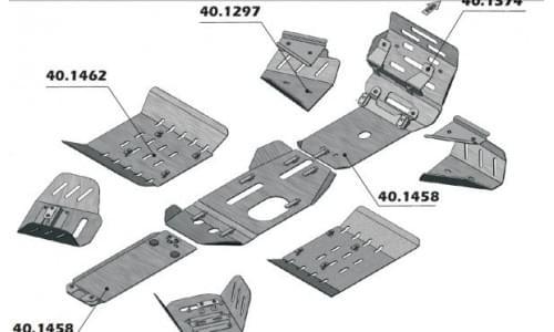 Комплект защиты днища для Sportsman 500 H.O. (2009-2011)