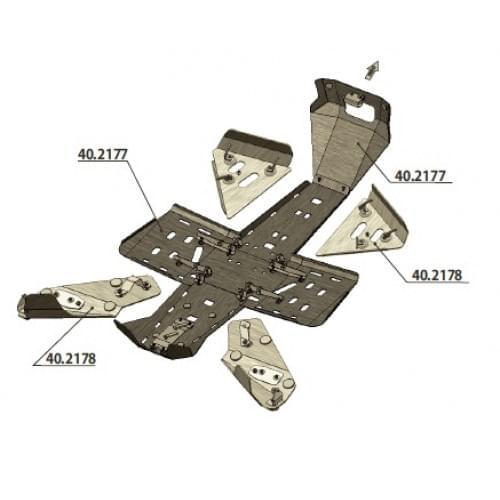 Комплект защиты днища для Outlander G2 (2012-2013)