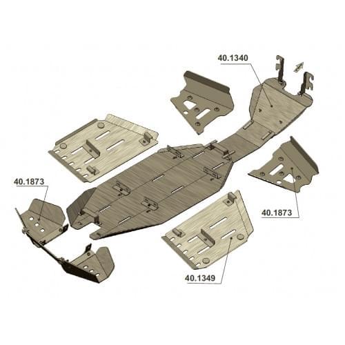 Комплект защиты днища для Outlander G1 (2007-2012)...
