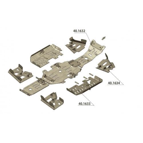 Комплект защиты для Suzuki King Quad 700/750...