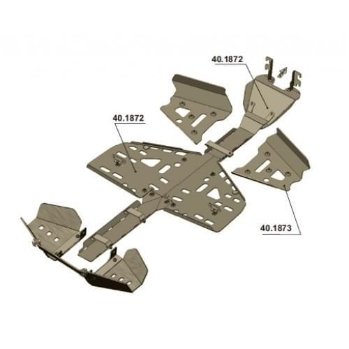 Комплект защиты днища для Outlander MAX G1 (2007-2...