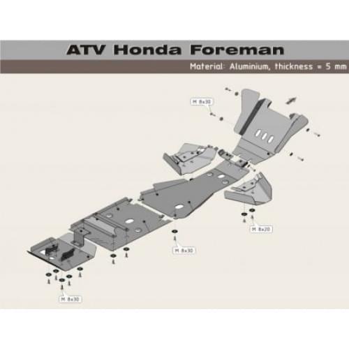 Полный комплект защиты Foreman TRX500...