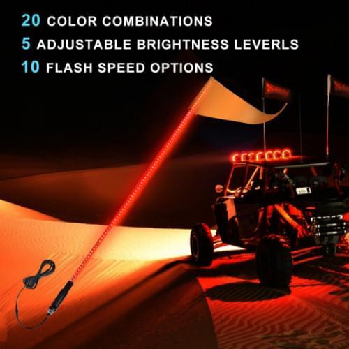 Флагшток с LED подсветкой МАТОВЫЙ (Как оптоволокно...