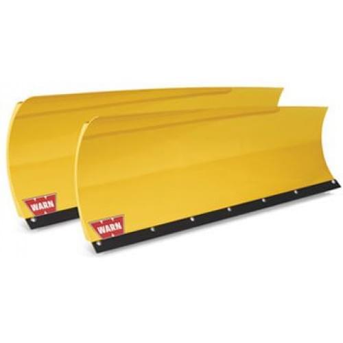 Полный комплект снегоотвала Warn желтый со скосом ...